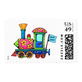Flower Power Locomotive Stamps