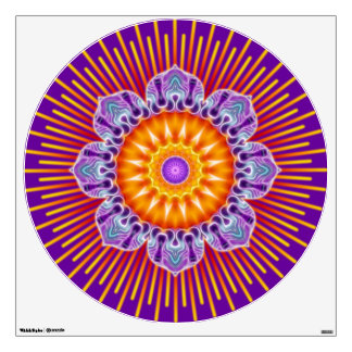 flower power lotus kaleidoscope fractal ART I Wall Sticker