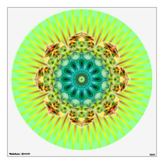 flower power lotus kaleidoscope fractal ART II Wall Decal