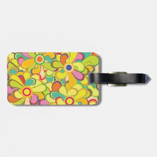 Flower Power Luggage Tag