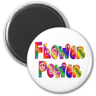 FLOWER POWER REFRIGERATOR MAGNET