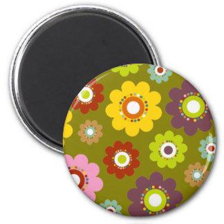 Flower Power Magnet Green