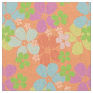 Flower Power Melon Fabric