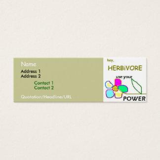 Flower Power Mini Business Card