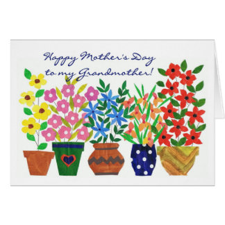 Flower Power Mother's Day Card for a Grandmother
