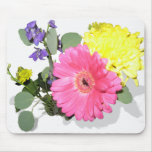 Flower power mouse pad