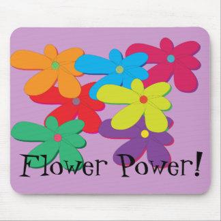 Flower power Mousepad Tapetes De Raton