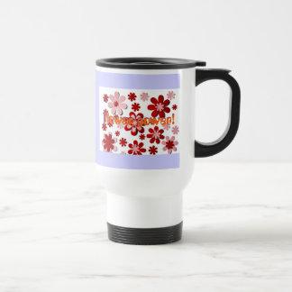Flower Power! 15 Oz Stainless Steel Travel Mug