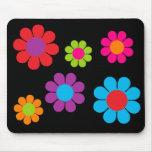 Flower power multicolor alfombrilla de ratón