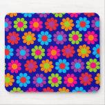 Flower power multicolor tapetes de ratón