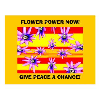 FLOWER POWER NOW! POSTCARD