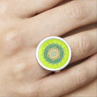Flower Power of Life / Blume des Lebens - green Rings
