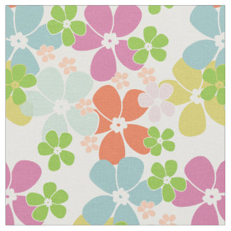Flower Power Pastels Fabric