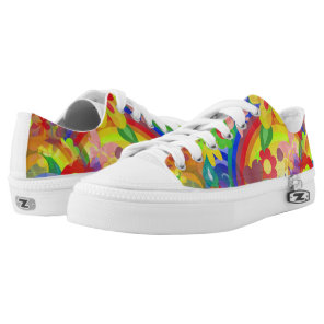 Flower Power Pattern 01   your ideas Low-Top Sneakers