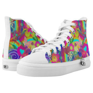 Flower Power Pattern 02 + your ideas High-Top Sneakers