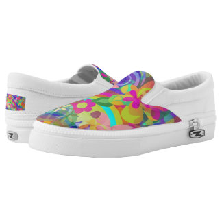 Flower Power Pattern 02 + your ideas Printed Shoes