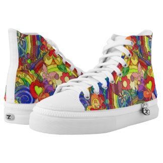 Flower Power Pattern 03 + your ideas High-Top Sneakers