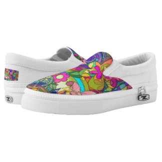 Flower Power Pattern 04 + your ideas Printed Shoes