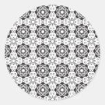 Flower Power Pattern Round Stickers