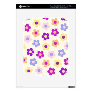 Flower Power Pattern – Yellow Background iPad 3 Skins