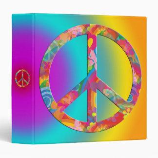 Flower Power Peace | coloured shine Binder