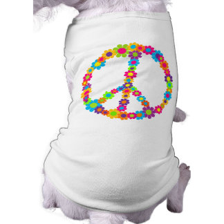 Flower Power Peace Doggie T Shirt