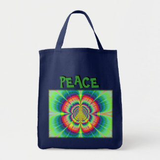 Flower Power Peace Grocery Bag