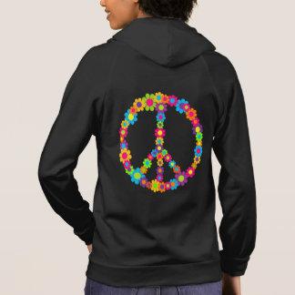 Flower Power Peace Hoodie