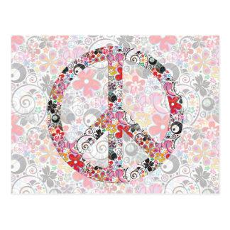 Flower Power Peace I | FlowerPower light Postcard