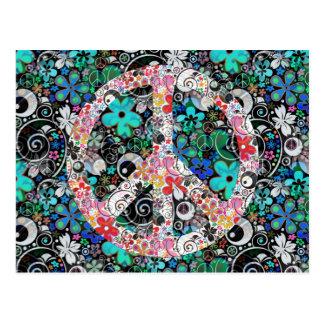 Flower Power Peace I | FlowerPower Postcard