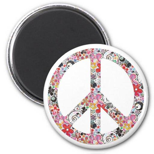 Flower Power Peace I Magnet