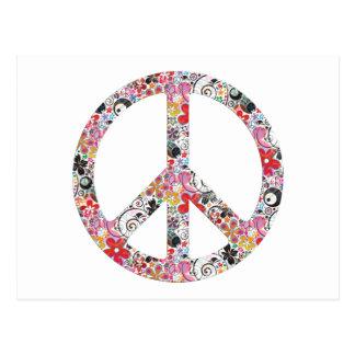 Flower Power Peace I Postcard