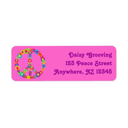 Flower Power Peace Label