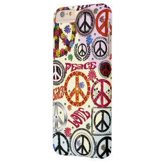 Flower Power Peace & Love Hippie Barely There iPhone 6 Plus Case