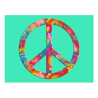 Flower Power Peace | mint Postcard