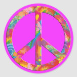 Flower Power Peace | pink Stickers
