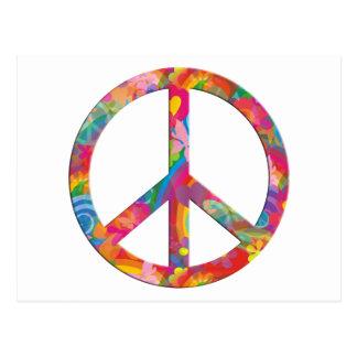 Flower Power Peace Postcard