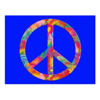 Flower Power Peace | royal Postcard
