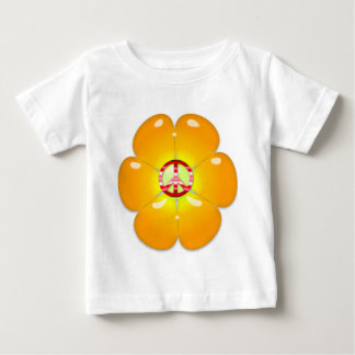 Flower Power Peace Sign Baby T-Shirt