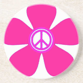 Flower Power Peace Sign Coasters