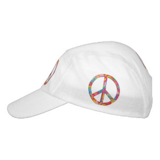Flower Power Peace sign I + your backgr. & ideas Headsweats Hat
