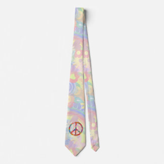 Flower Power Peace sign I + your backgr. & ideas Tie