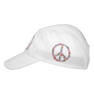 Flower Power Peace sign II + your backgr. & ideas Headsweats Hat