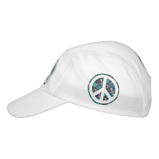 Flower Power Peace sign III + your backgr. & ideas Headsweats Hat