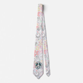 Flower Power Peace sign III + your backgr. & ideas Tie