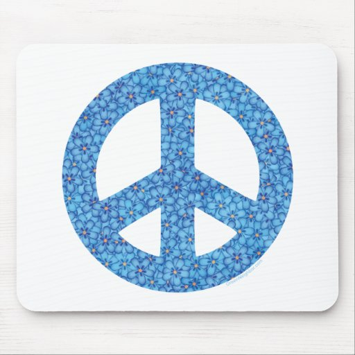 Flower Power Peace Sign Mouse Pad