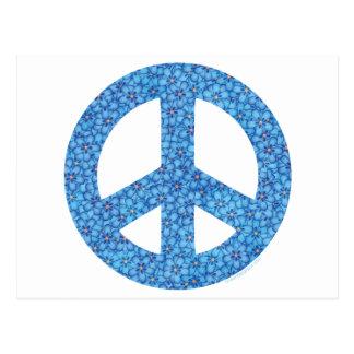 Flower Power Peace Sign Postcard