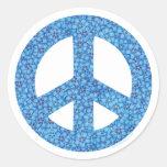 Flower Power Peace Sign Sticker