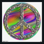 "flower power PEACE symbol VI Wall Decal<br><div class=""desc"">Spiritual Symbol ART by EDDA Fr&#246;hlich | graphic: flower power peace symbol | topic: PEACE ON EARTH - make LOVE not WAR</div>"