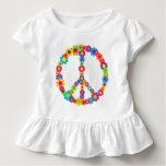 Flower Power Peace T Shirt